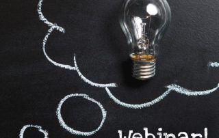Webinar Text on Chalkboard