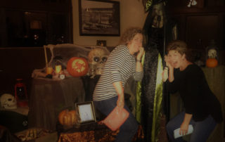 Owners Meghan Fessler and Stacy Bradley face their fear with a spooky witch.