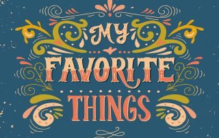 "Photo of colorful words ""my favorite things."""