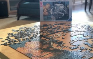 Partially Put Together Dragon Jigsaw Puzzle