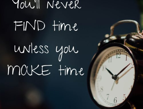 Make Time to Save Time