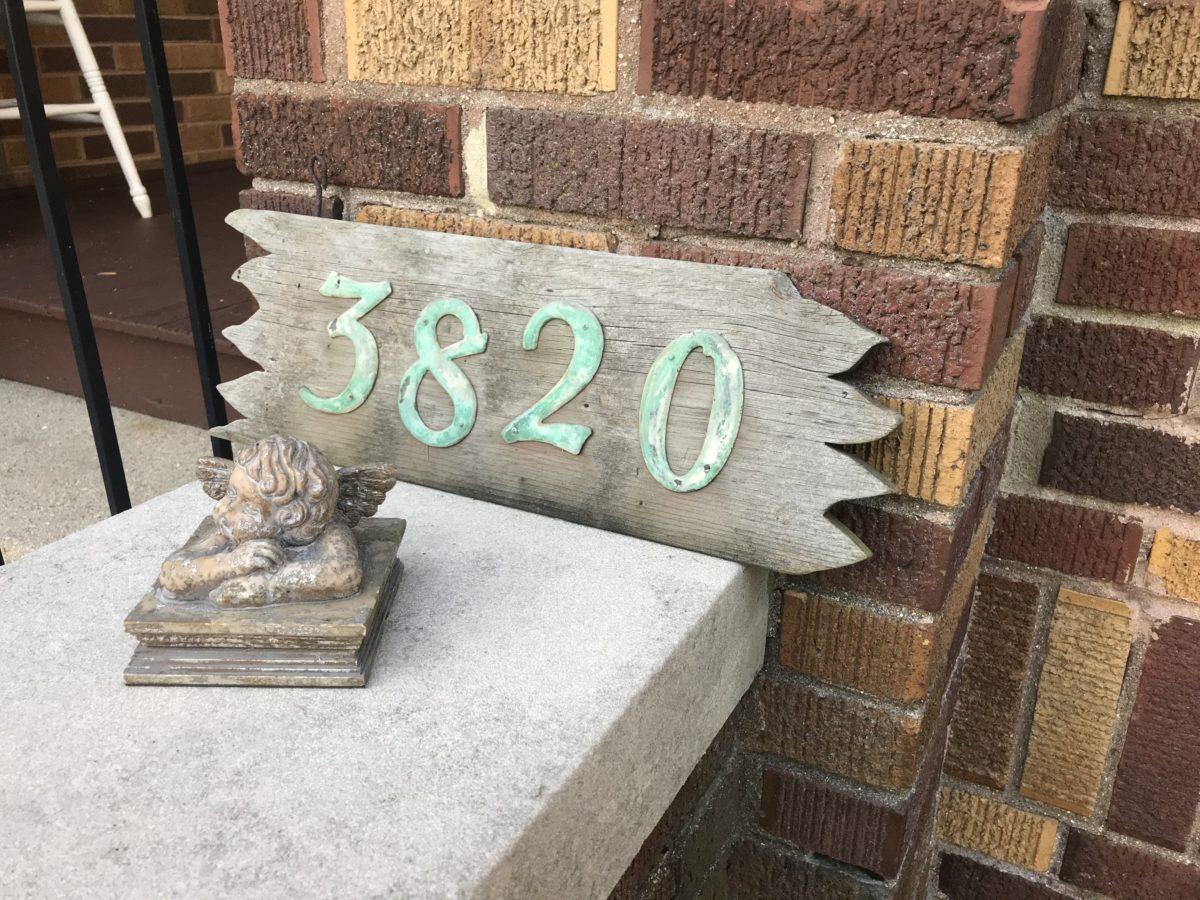 House Address Plate